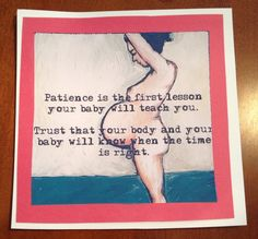 Birth Affirmation Card