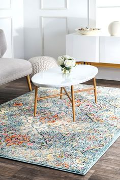 Withered Floral Tiles Rug