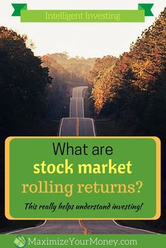 """Have you ever heard the phrase """"rolling returns""""? Looking at historical  investment rolling returns can be useful in understanding past stock market performance, risk related to timing, market fluctuations, and more. Good info for investing beginners and"""