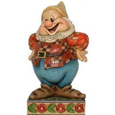 Happy by jim shore Disney Home, Walt Disney, Figurine Disney, Disney Traditions, Seven Dwarfs, House Mouse, Disney Merchandise, Caricature, Fairy Tales