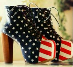 wanna have it #shoes #highheels  #nice #blue #red #white
