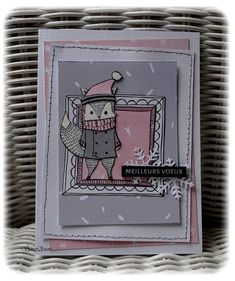 carte Noël Mix Media, Mixed Media Art, December Daily, Atc, Creative, Cardmaking, Stampin Up, Christmas Cards, Lily