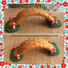 DIY Inspiration Fairy Garden bridge made from Polymer Clay. Handmade by HeARTful Crafter