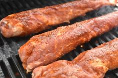 Cooking Cookies, Grilling Recipes, Lchf, Sausage, Bacon, Food And Drink, Meat, Grilled Food, Breakfast