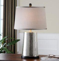 Found it at Clockway.com - Arnez Mercury Glass Table Lamp - LUT7015