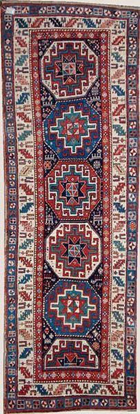 Karabagh Origin: Kaukasus Size: 295 x 102 cm - Teppich Michel