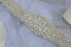 Crystal Vintage Wedding Bride Sash Belt Art by CrystalandPearlB, £41.95