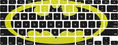 Large Batman Logo Macbook Keyboard Stickers by edwardstickerhands. , via Etsy.