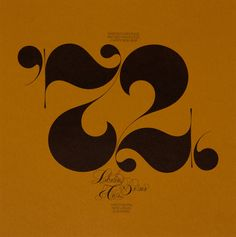 '72 - a very good year! Herb Lubalin American Graphic Designer 1918—81 | Unit Editions