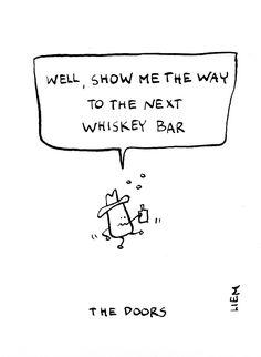 The Doors. Alabama Song (Whiskey Bar). 365 illustrated lyrics project, Brigitte Liem.