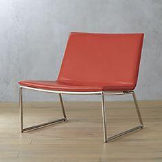 triumph red-orange lounge chair