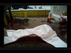 Cómo coser un pañal de tela de los modernos parte 3 - La receta de la ab...