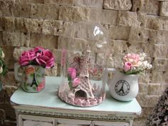 Dollhouse Miniature Shabby Chic Vintage French by IttyBittyAndCute, $39.95