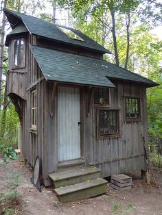 Zinta Aistars' tiny cottage on the back of her 10 acres in southwest Michigan.