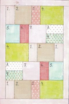Crazy quilt each square