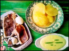 Bacalhau cozido com maionese de wasabi ♥♥♥ - http://gostinhos.com/bacalhau-cozido-com-maionese-de-wasabi-%e2%99%a5%e2%99%a5%e2%99%a5/