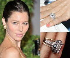 Ever Wonder What Your Favorite Diamond Celebrity Engagement Rings Would Look Like With Blue Shires