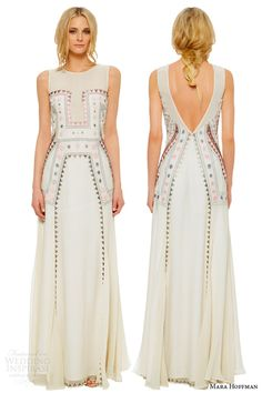 Mara Hoffman Lakshmi Embroidered Gown Bridal 2014 my dream beach wedding dress Dress Me Up, New Dress, Embellished Wedding Gowns, Boho Chic, Bohemian Schick, White Embroidered Dress, Wedding Dresses 2014, Bridal Dresses, Bridal Collection