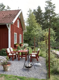Backyard landscaping ideas - create an easy backyard play house. a canvas teepee develops a backyard summer play house for youngsters to delight in from Swedish Cottage, Red Cottage, Swedish House, Garden Cottage, Home And Garden, Backyard Play, Backyard Landscaping, Landscaping Ideas, Scandinavian Garden