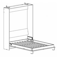 Kit mécanisme lit simple vertical