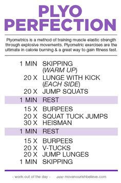 Definition of Plyometrics and workout Plyo Plyo Workouts, Plyometric Workout, Plyometrics, At Home Workouts, Group Workouts, Daily Workouts, Calisthenics, Fitness Workouts, Fitness Tips