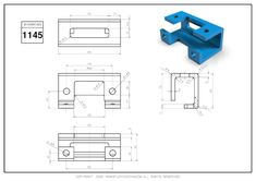 3D CAD EXERCISES 1145 - STUDYCADCAM Cad Drawing, Drawing Practice, Autocad, Geometry, Exercises, 3d, Drawings, Drawing Drawing, Exercise Routines
