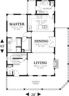 Cottage Style House Plan - 3 Beds 2.5 Baths 1915 Sq/Ft Plan #48-572 Floor Plan - Main Floor Plan - Houseplans.com