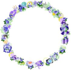 フリーのイラスト素材すみれの雑貨で作られたリース Free Illustration The wreath of miscellaneous goods of violet Wallpaper, Frame, Jewelry, Illustrations, Note, Tags, Backgrounds, Picture Frame, Jewlery