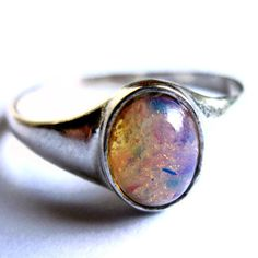 Sterling Silver Ring Pink Opalite Women Fashion Jewelry. Gorgeous
