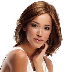 Alia -  SMARTLACE COLLECTION by Jon Renau   Alia is a layered contemporary bob that provides amazing movement and styling versatility. This wig combines the light comfort and natural looking growth of a Mono Top along with our exclusive SmartLace technology which offers the most natural hairline available. No tape or glue needed!