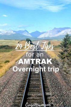 My 29 best tips for taking an Amtrak overnight train. If a short 18 hour overnight train or several days, know how to pack, tip and enjoy the ride. Amtrak Train Travel, Scenic Train Rides, Vacation Destinations, Vacation Trips, Vacation Spots, Vacation Ideas, Solo Vacation, Mini Vacation, Vacation Places