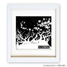 << SEASONS COLLECTION >> Autumn...  is coming   Illustrator & Wacom Tablet   #illustrator #illustration #wacom #night #painting #art #autumn #black #white #seasons