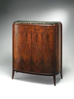 Cabinet Artist: Léon Jallot (French, 1874–1967) Date: ca. 1925 Medium: Palissander, marble, mahogany