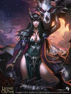 ♡ #AweSomEilluStrationS   Dragon+girl1+by+liangxinxin.deviantart.com+on+@DeviantArt