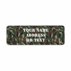 Woodland Camouflage Military Background Return Address Labels by #Camouflage4you - Shipping to Lake Elsinore, CA #camo #camouflage #military #zazzle