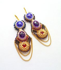 Here is collections of beautiful embroidered earrings from different talanted designers from all theworld