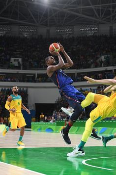 #RIO2016 Kevin Durant of the USA Basketball Men's National Team shoots against Australia on Day 5 of the Rio 2016 Olympic Games on August 10 2016 at Barra...