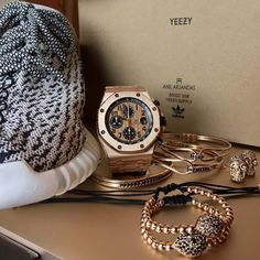 Adidas #Yeezy X Audemars Piguet X Anil Arjandas Jewels in rose gold.