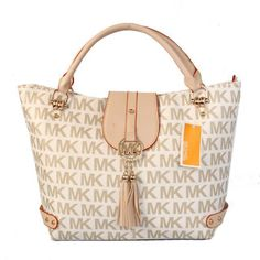Michael Kors Logo Large Vanilla Totes - $65.99?!? Uhh Yes Please!!!!! -LS