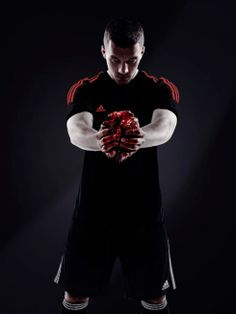 """#Germany #OoH #adidas #digital #controversy The international outdoor- and digital campaign from #FIFAsponsor Adidas is causing a controversy in Germany. #Allinornothing feat. #LukasPodolski holding a real heart of a cow """"giving his heart for his country"""""""