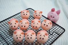 Miniature chiffon cake piglets by Agnes iing (@agnes_chii)