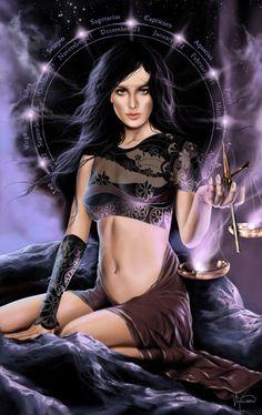 Libra, lady of balance and justice Libra Art, Libra Horoscope, Libra Zodiac, Astrology, Zodiac Art, Sagittarius, Witchcraft Love Spells, Wiccan, Fogo Gif