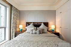 Fresh and elegant American bedroom 2015