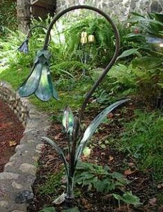 Beautiful garden lighting to add atmosphere and extend the garden into the sunset.