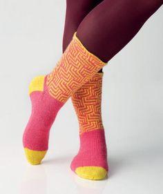Labyrinth-Socken by Charles D. Gandy, R0239 - Gratisanleitung