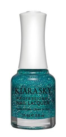 Kiara Sky Polish Vegas Strip N517. Kiara Sky® Professional Nail Lacquer is an advanced formula free of Formaldehyde, Toluene, and DBP. Our highly pigmented, high-fashion nail lacquer provides glassy, full coverage, long-wearing shine for natural nails. Kiara Sky patent-pending bottle design is paired with Precision Brush® technology engineered to complement our highly pigmented formula, giving you the most even and precise lacquer application. Available in 101 trendsetting...