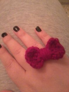 my crocheted ring. Crochet Necklace, Rings, Diy, Jewelry, Jewlery, Crochet Collar, Bricolage, Jewels, Ring