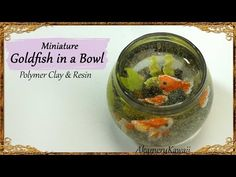 Miniature Goldfish Bowl polymer clay & resin tutorial