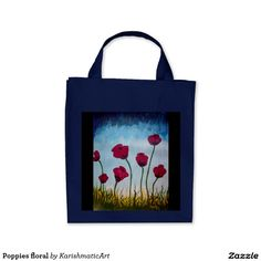 Poppies flourishing alder tote bag