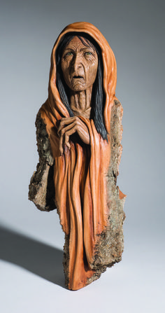 Suzy Fueshko used a delicate touch to create this haunting carving. Learn more about the projects in Woodcarving Illustrated Fall 2016 (Issue 76) at http://woodcarvingillustrated.com/blog/woodcarving-illustrated-fall-2016-issue-76/.